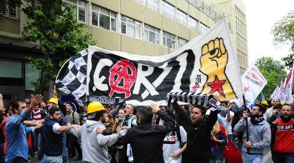 Fotoğraflar//beşıkktaş'tan Yürüyen Gruba Polıs Mudahalesı