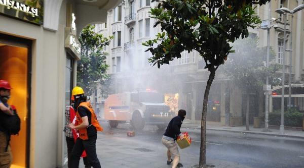 Fotoğraflar//beşiktaş'tan Yürüyen Gruba Polıs Mudahalesı