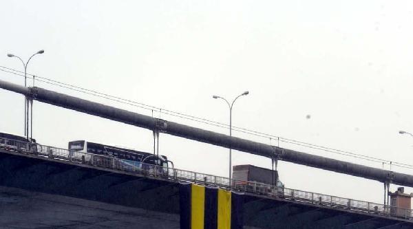Fotoğraflar//fenerbahçe Bayrağı Fatih Köprüsü'ne Asıldı