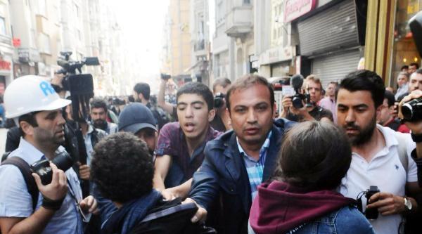 Fotoğraflar//istiklal Caddesi'nde Gerginlik Ve Gözaltı