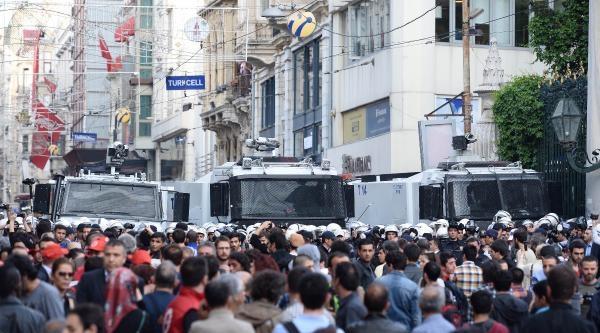 (fotoğraflı) Taksım'de Polisten Müdahale