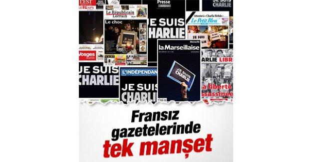 Fransız gazeteleri bugün aynı başlığı attı