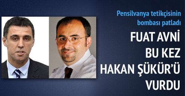 Fuat Avni bu kez Hakan Şükür'ü vurdu
