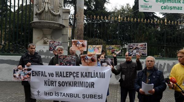 Galatasaray'da Halepçe'de Ölenler Anıldı