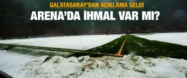 Galatasaray'dan açıklama geldi: Arena'da ihmal var mı ?