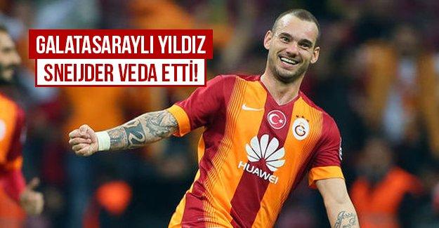 Galatasarylı Sneijder veda etti!