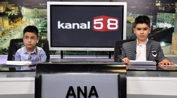 Gazeteci Güneş'in Çocuklari Televizyonda Haber Sundu