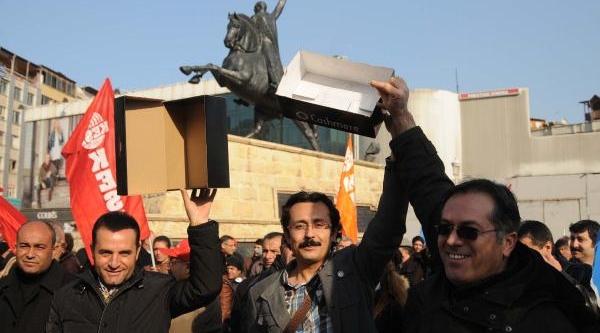 Gaziantep Ve Adiyaman'da Kesk Üyelerinden Protesto Eylemi