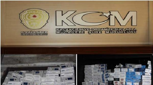 Gaziantep'te 17 Bin 400 Paket Kaçak Sigara Ele Geçirildi