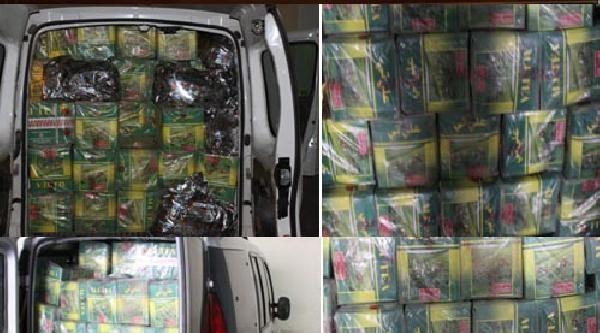 Gaziantep'te 1 Ton Kaçak Çay Ele Geçirildi