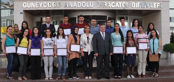 Gaziantep'te 23 Desinatör Sertifikasını Aldı