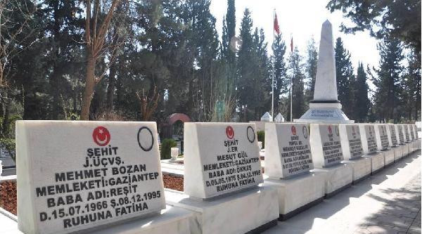 Gaziantep'te 42 Şehit Mezarı Yenilendi