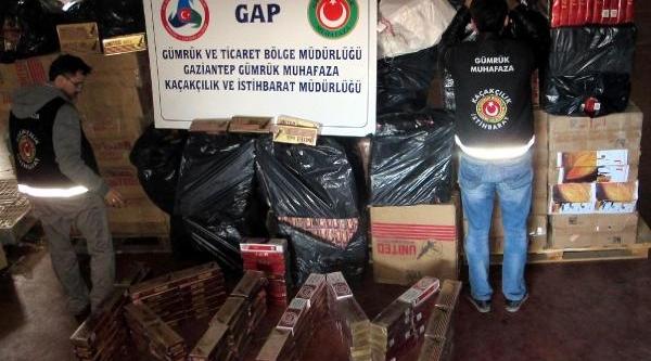Gaziantep'te 44 Bin 500 Paket Kaçak Sigaraya 2 Tutuklama