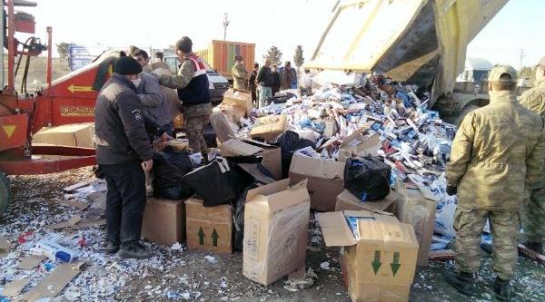Gaziantep'te 600 Bin Paket Kaçak Sigara Imha Edildi