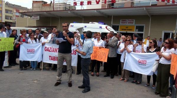 Gaziantep'te Doktorlardan Nöbet Protestosu