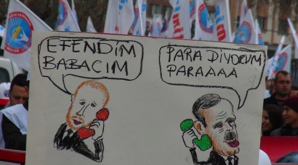 Gaziantep'te Eğitimcilerden Davullu Zurnalı Protesto