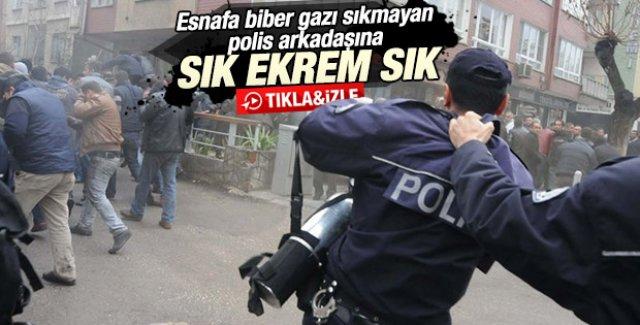 Gaziantep'te esnafa polis müdahalesi