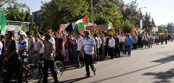 Gaziantep'te İsrail Protestosu
