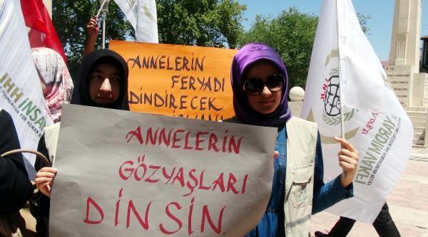 Gaziantep'te Kadınlardan Çocuklari Dağa Kaçırılan Annelerin Eylemine Destek