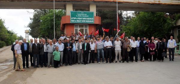 Gaziantep'te Kapanan Özel İdare Personelleri Eylem Yaptı