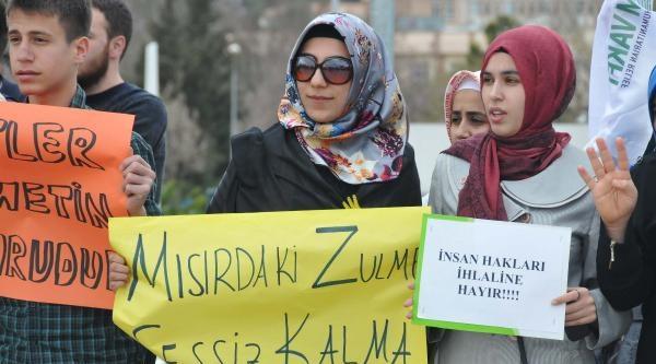 Gaziantep'te, Mısır'daki İdam Cezaları Protesto Edildi