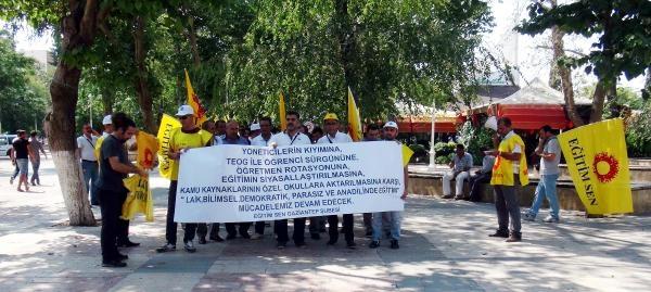 Gaziantep'te Öğretmenlerden Protesto
