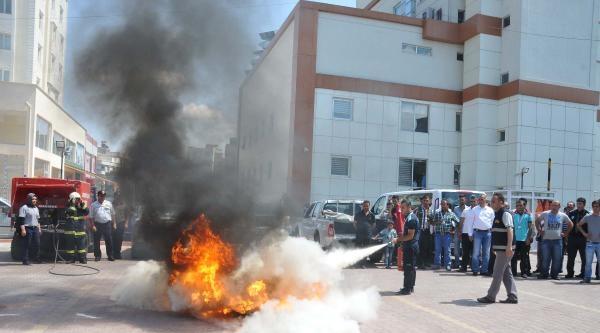 Gaziantep'te Özel Hastanede Yangın Tatbikatı