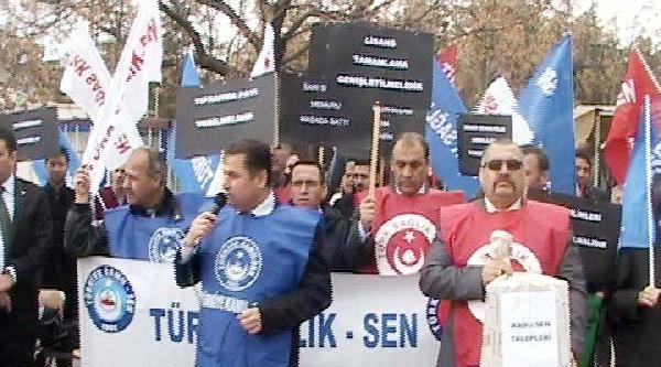 Gaziantep'te Sağlık Çalişanlarindan 14 Mart Protestosu