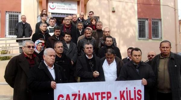 Gaziantep'te Sağlik Çalişanlarindan 'torba Yasa' Protestosu