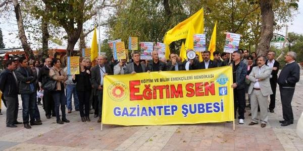 Gaziantep'te Sigortasiz Işçi Eylemi