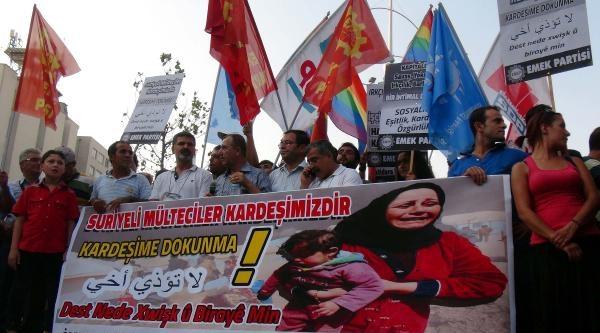 Gaziantep'te Suriyeli Sığınmacılara Destek Yürüyüşü