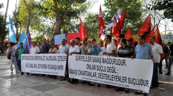 Gaziantep'te Suriyelilere Yönelik Tepkiler Protesto Edildi