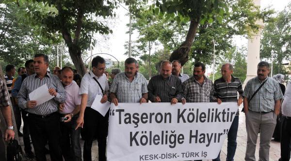 Gaziantep'te 'taşeron Yasası' Protestosu