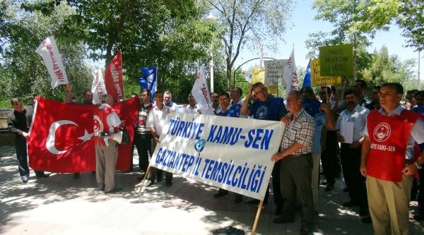 Gaziantep'te Torba Yasa Protestosu