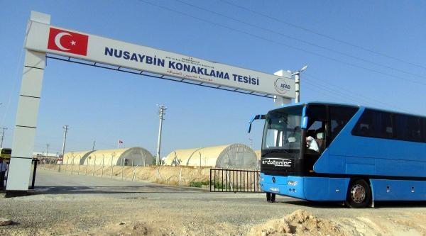Gaziantep'teki Olayların Ardından Bir Grup Suriyeli Nusaybin'e Getirildi
