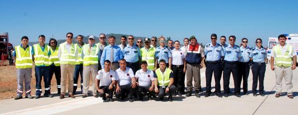 Gazipaşa Havalimanı'nda Yangın Tatbikatı