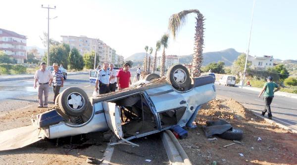 Gazipaşa'da 2 Ayrı Kaza: 1 Ölü, 2 Yaralı