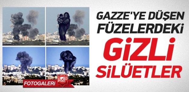 Gazze' ye düşen füzelerdeki gizli silüetler !