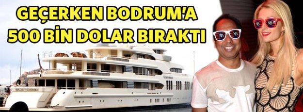 Geçerken Bodrum'a uğradı, 500 bin dolar bıraktı