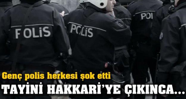 Genç polis herkesi şoka soktu
