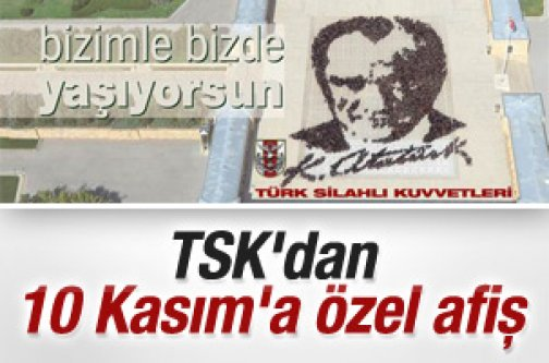 Genelkurmay'dan 10 Kasım afişleri