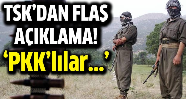 Genelkurmay'dan flaş PKK açıklaması