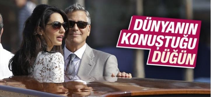 George Clooney'nin düğününe Hollywood akın etti