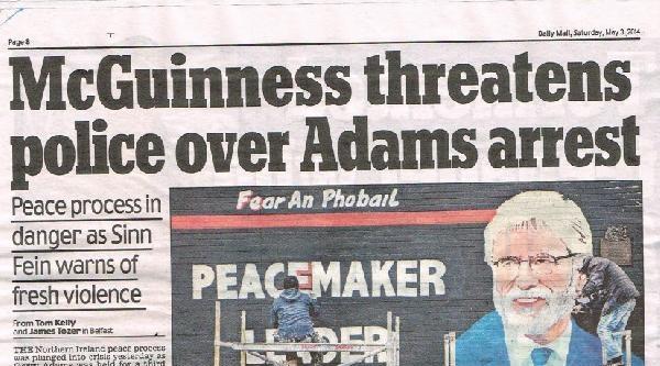 Gerry Adams'ın Gözaltına Alınması Kuzey İrlanda'da Gerginlik Yarattı