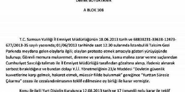 Gezi Parki Protestosuna Katilan Öğrenciler Yurttan Atildi