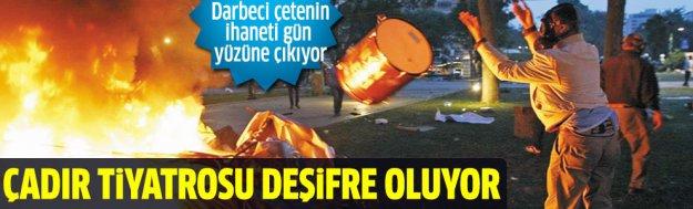 Gezi'de çadır yakma emri Ramazan Emekli'den