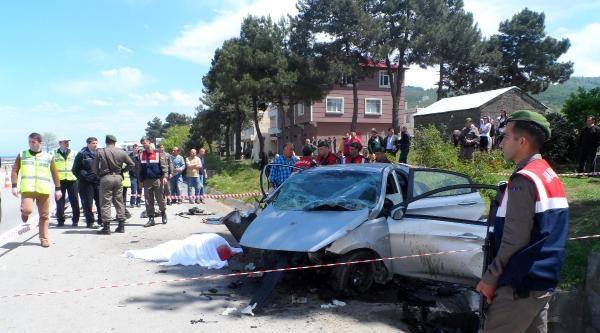 Giresun'da Takla Atan Otomobilde 3 Ölü, 1 Yaralı