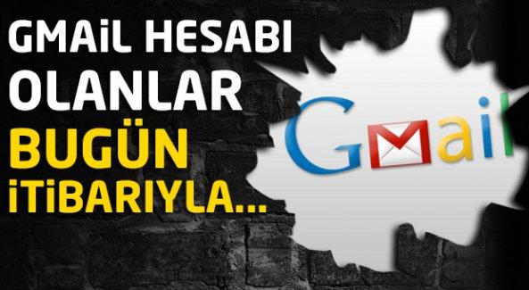 Gmail uygulamasına güncelleme