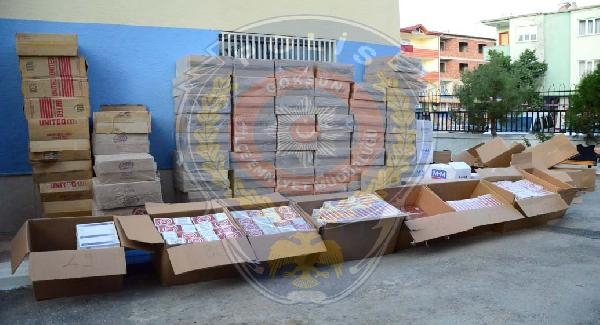 Göksun'da 34 Bin 160 Paket Kaçak Sigara Ele Geçirildi