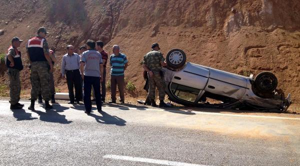 Göksun'da Otomobil Takla Attı: 4 Yaralı